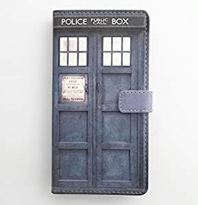 Galaxy Note 4 Case - Tardis Blue Police Call Box Pattern Slim Wallet Card Flip Stand PU Leather Pouch Case Cover...