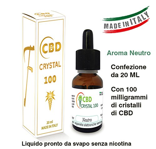 E-Liquido CBD CRYSTAL 100 20ml/100mg cbd Liquido para cigarrillo electronico. SIN NICOTINA.