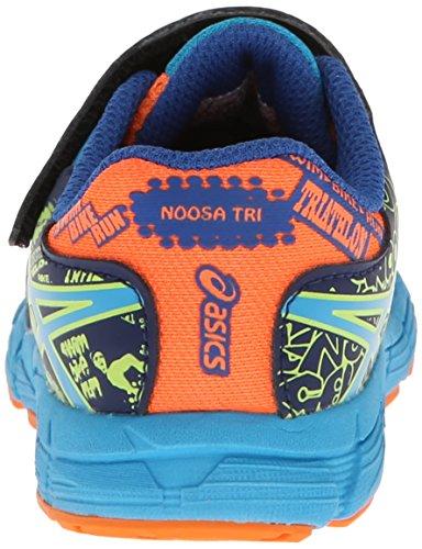 Asics Noosa Tri 9 TS Maschenweite Laufschuh Flash Orange/Aqua/Navy
