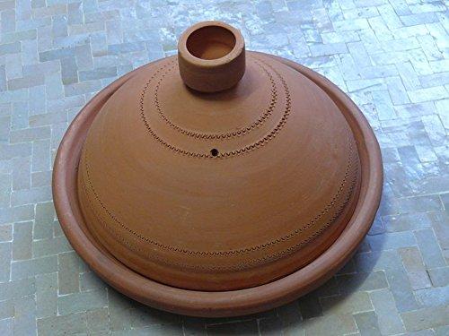 Marokkanische Tajine zum Kochen unglasiert ø 35 cm für 4-5 Personen
