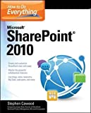 How to Do Everything Microsoft SharePoint 2010 Written by a former member of the SharePoint development team, this is a step-by-step guide to mastering the latest release of this integrated suite of server capabilities. Full description