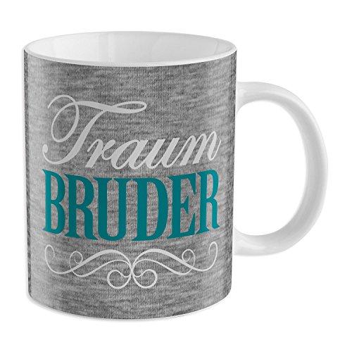 """GRUSS & CO 44218 Tasse """"Traum Bruder"""", Porzellan, 35 cl"""