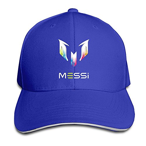 Hittings Lionel Messi Personal Logo Flex Gorra de béisbol Black Roya lblue 7968e9be1c1