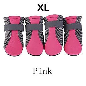 Su-luoyu Lot DE 4 Pcs Chaussures pour Chien Animaux domestiques Bottes de Protection Intérieur Confortable Respirant Doux