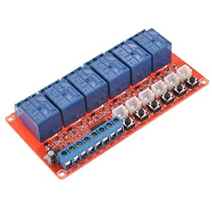 DC 12V 220mA 6 Channels Load 250VAC 30VDC 10A Power Relay Module