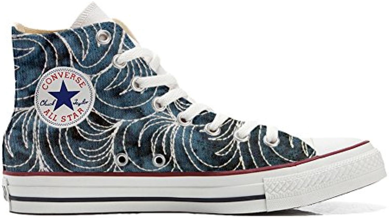 mys Converse All Star Hi Customized Personalisiert Schuhe Unisex (Gedruckte Schuhe) Spake Paisley