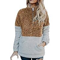 Damen Sweatshirt,Geili Mode Frauen Velvet Langarm Reißverschluss Rollkragen Taschen Tops Pullover Bluse Damen... preisvergleich bei billige-tabletten.eu