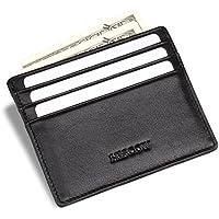 hiscow da uomo Slim a portafoglio nero con 6carte di credito–Vitello italiana