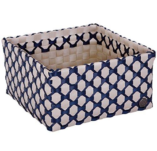 HANDED BY Box ALBI LIMOGES Korb Deko Schachtel Aufbewahrung hell grau dunkelblau (Limoges Box)