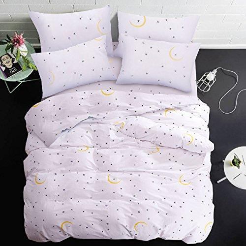 G BETTWARENSHOP Mako-Satin Bettwäsche Monde und Sterne 1 Bettbezug 135x200 cm + 1 Kissenbezug 80x80 cm