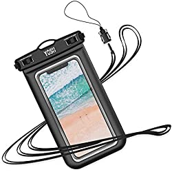 YOSH Pochette Étanche Téléphone [Certifiée IPX8] Housse Étanche Smartphones Universel pour iPhone 11 X XR XS 8 7 6s Plus Samsung S10 S9 S8 Huawei P30 P20 Mate20 Pro - up to 6.1 inch