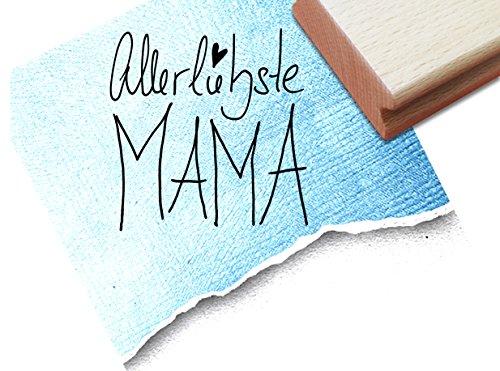 extstempel - Schriftstempel handschriftlich - Allerliebste Mama - für Geburtstag, Muttertag, Artjournal und ...einfach nur SO (Muttertag Schrift)