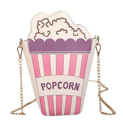 Widewing Schulter Handtaschen für Damen Frauen Mädchen Casual Popcorn Kette Leder Messenger Bags Telefon Schultertasche