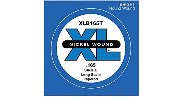 .165 GAUGE TAPERED D/'ADDARIO XLB165T SINGLE LOW /'B/' NICKEL BASS STRING