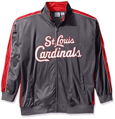 MLB St. Louis Cardinals Herren Team Reflektierende Tricot Track Jacket, 6x, anthrazit/rot (Track Jacket Charcoal)