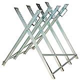 TecTake Holzsägebock für Kettensäge Holzspalter mit Haltergriffen