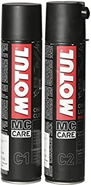 Motul Combo of C2 Chain Lube (400 ml) and C1 Chain Clean for All Bikes (400 ml) (LBCH014)