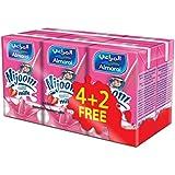 Almarai Uht Nijoom Strawberry Milk - Buy 4 Get 2 Free , 150 ml