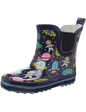 Beck Space - Botas de Goma Forradas y de caño bajo de Goma niños