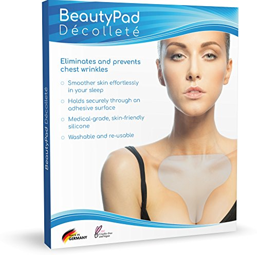 Das Original BeautyPad Décolleté Anti-Falten Silikon-Pad - Glatteres Dekolleté schon nach kürzester Zeit - Perfekter Halt durch innovative Selbstklebefläche - Dermatologisch getestet