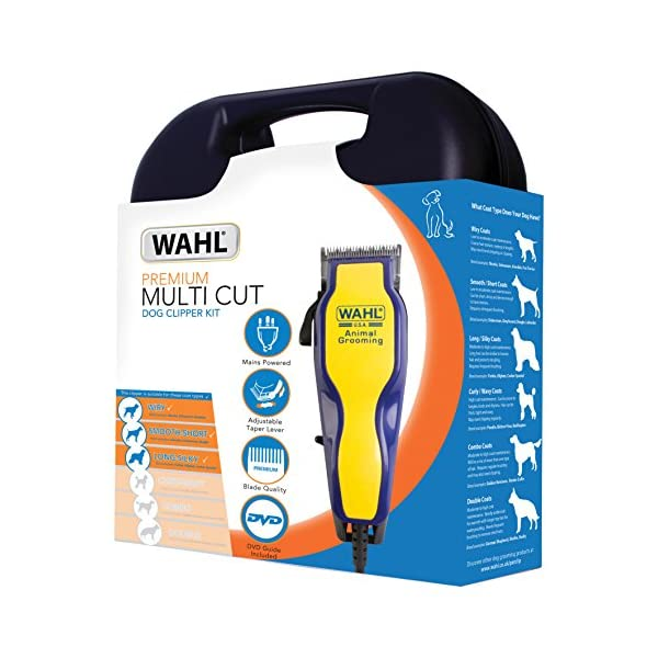 Wahl  9269-810 Multi Cut Mains Dog Clipper Set & Instructional DVD Blue / Yellow 4