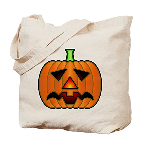 CafePress Gloomy Halloween Jack O Lantern Tragetasche, canvas, khaki, S