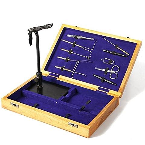 Taimen Fly Tying Kit d'outils avec coffret en bois