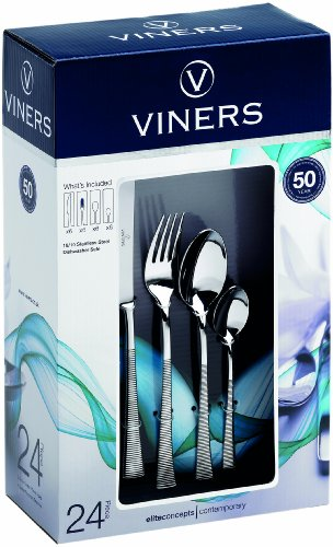 Viners Eden 24-Piece Cutlery Set, Gift Boxed