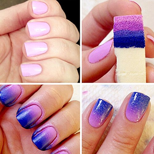 Vovotrade Nail Art Sponges Stamping Polish Template Transfer Manicure DIY Tool