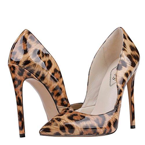 EKS , Escarpins femme - Leopard-Wildleder