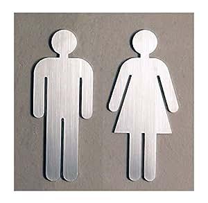 Schönbeck Design Panneaux pour porte de toilettes homme et femme mat - fabriqué en Allemagne