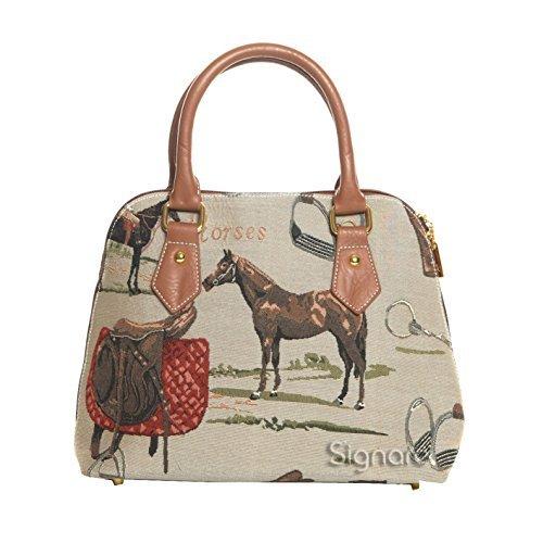 Signare Femmes Dames Tapisserie Mode Sac à main sac de corps (Convertible) Cheval