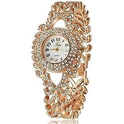 Frau, Quarz-Uhr, Mode, Persönlichkeit, Freizeit, Muster, Metall, W0353