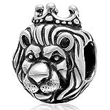 Charm Glücksbringer Löwe 925 Sterling Silber Glücksbringer Glücksbringer Geburtstag Jahrestag Charm für Pandora Charm-Armband a