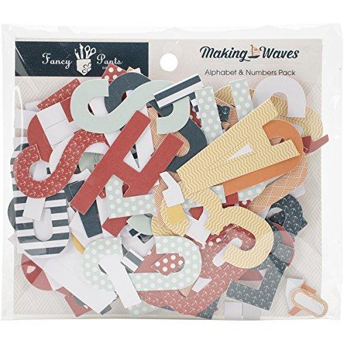 Fancy Pants Designs 2528 Waves Alphabet/Number Set for Scrapbooking by Fancy Pants Designs - Fancy Pants Designs