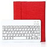 Besmall iPad 2/3/4 Clavier Française Bluetooth 3.0 sans fil + Housse de Protection Support 360 Degrés Combinaison 2 en 1 Rouge