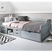 Noa and Nani - Eva Single Day Bed with Pullout Drawers - (Grey)