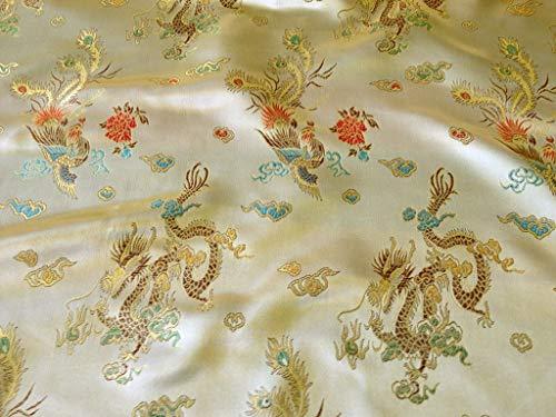 Such Textiles Gold Chinesischer Drache Brokat Stoff (Pro Meter) -
