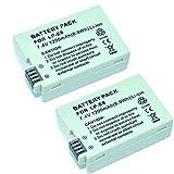 MP power  Remplacement Batterie Li-ion type 2 x LP-E8 LPE8 LP E8 avec infochip...