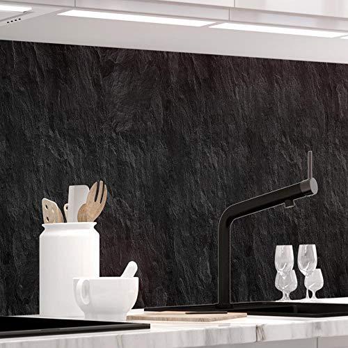 StickerProfis Küchenrückwand selbstklebend - Schiefer- 1.5mm, Versteift, alle Untergründe, Hart PET Material, Premium 60 x 220cm