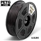 Filamento di stampa 3D PETG, precisione dimensionale +/- 0,02 mm, 1 kg/bobina, 1,75 mm, filamento ecologico adatto per stampante 3D / penna di stampa 3D