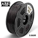 PETG 3D Print Filament, Maßgenauigkeit +/- 0,02 mm, 1 kg/Spool, 1,75 mm, umweltfreundlich Filament geeignet für 3D-Drucker / 3D Print Pen (schwarz)