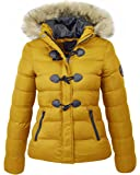 M1427 New Womens Ladies Quilted Winter Coat Puffer Fur Collar Hooded Jacket Parka Size WIZZADSHORT 2017