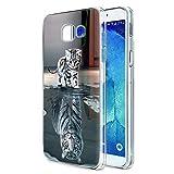 Zhuofan Plus Coque Samsung Galaxy A3 2017, Silicone Transparente avec Motif Design Antichoc Housse de Protection TPU 360 Bumper Souple Case Cover pour Samsung A3 2017 4,7 Pouces, Katzentiger