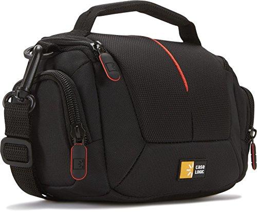 Case Logic DCB305K Camcorder Kit Bag Kameratasche mit Schultergurt und flexibler Inneneinteilung schwarz/rot