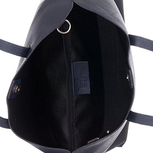 Taschentasche aus strukturiertem Leder mit abnehmbarer Schleife Laura Moretti cieJV7xS