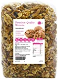 PINK SUN Walnüsse 1kg Kerne Hälften und Stücke Geschält Ganz Roh Natürlich Nüsse Ungeschält Ungeröstet Ungesalzen Unbehandelt Naturbelassen 1000g - Walnut Halves and Pieces Natural Nuts Unsalted Bulk
