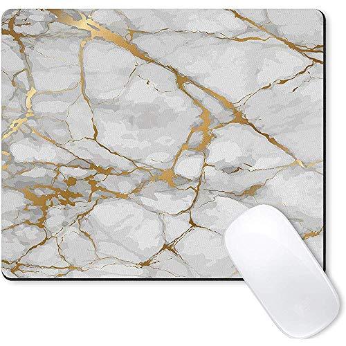 Galdas Mauspad Weiß Marmor Gold Korn Wasserzeichen Hintergrund Mousepad rutschfeste Gummi Gaming Mouse Pad Rechteck Mauspads-Marmor
