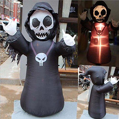 1.8M Halloween aufblasbare Skelett leuchtend stehend Knochenmann für Garten Bar Party Supermarkt (Kostüme Supermarkt Party Halloween)