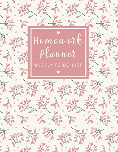 Homework Planner Weekly to do list: Sweet Flowers Student Planner Journal Tracker Notebook Education Teaching Studying Journal size 8.5x11 Inches (Homework Assignment Planner, Band 5)